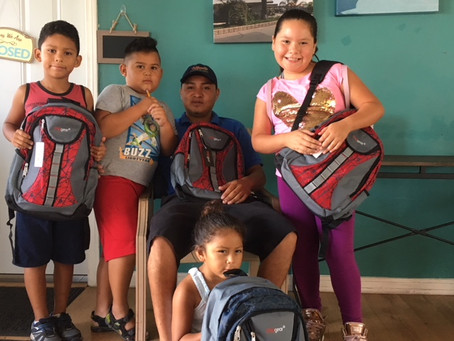 Local Scout Donates 180 Backpacks to Bahia Village