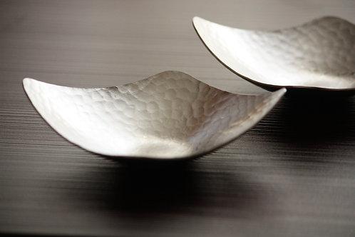 Stainless steel saucer ひし形ミニプレート