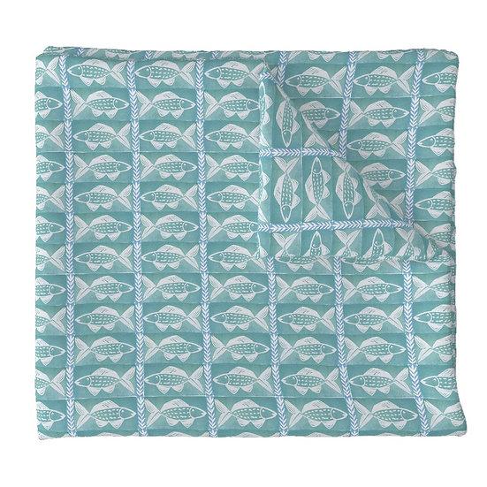 FISH SHACK print fabric