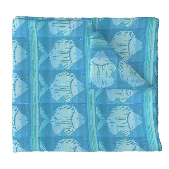 FRESH FISH print fabric