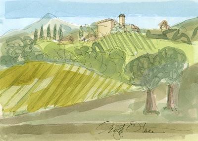 pienza hillside