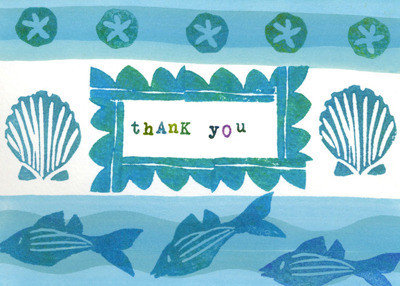 THANK YOU CARDS--6 designs