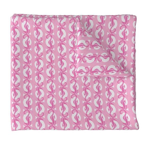 SEAHORSE CIRCLES print fabric