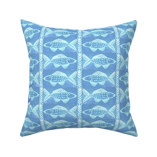FISH SHACK print pillow