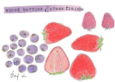 mixed berries & creme fraiche