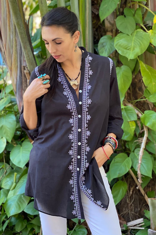 Embroidered Voile Shurta