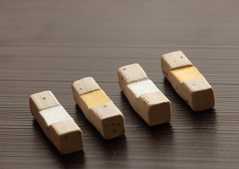 拍子木箸置き(金、銀)