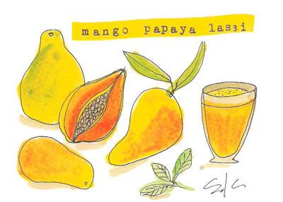 mango papaya lassi