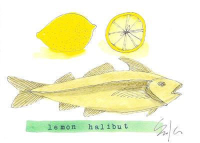 lemon halibut