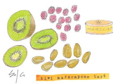 kiwi marscapone tart