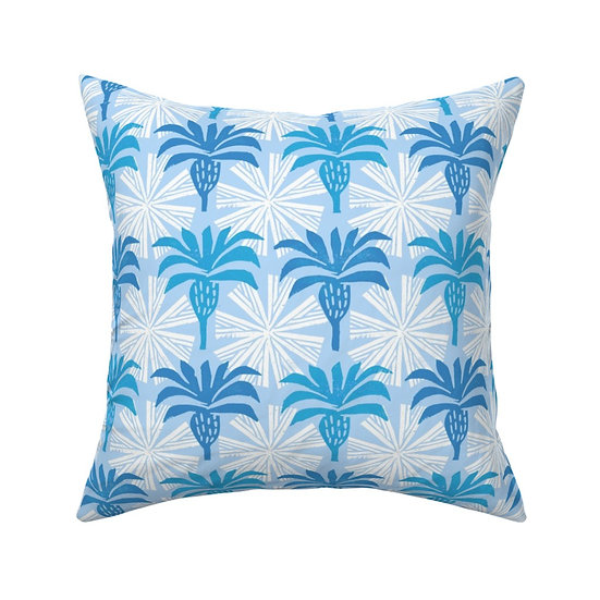 SUNNY PALMS print pillow