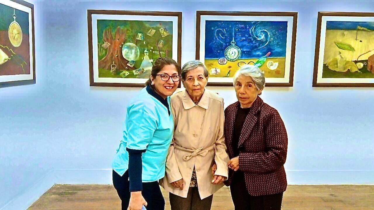 Beatriz con Sara y Georgina