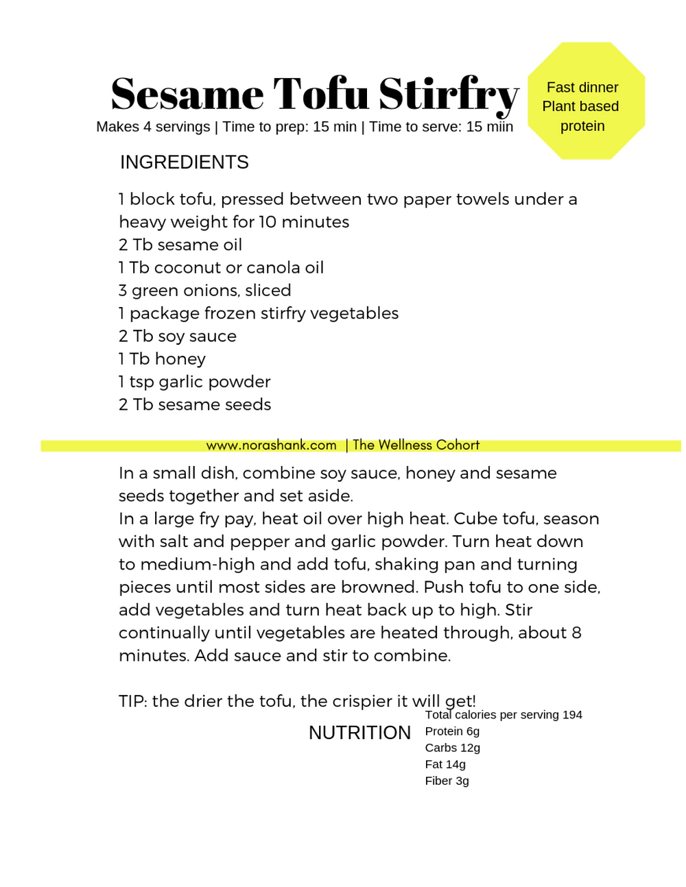 How to get started eating a plant-based diet with this simple stirfry recipe from Nora Shank Nutrition