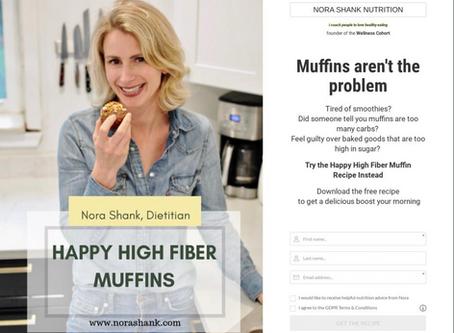 High Fiber Low Sugar Summer Zucchini Muffins