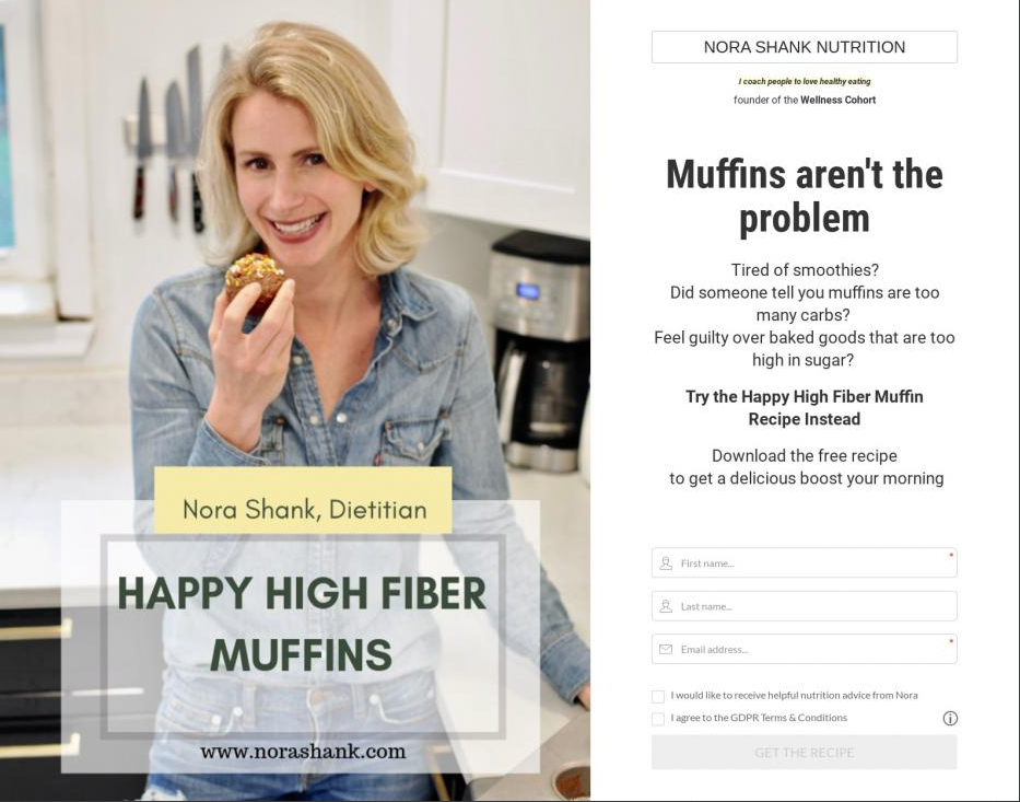Happy High Fiber Muffins with Nora Shank Nutrition