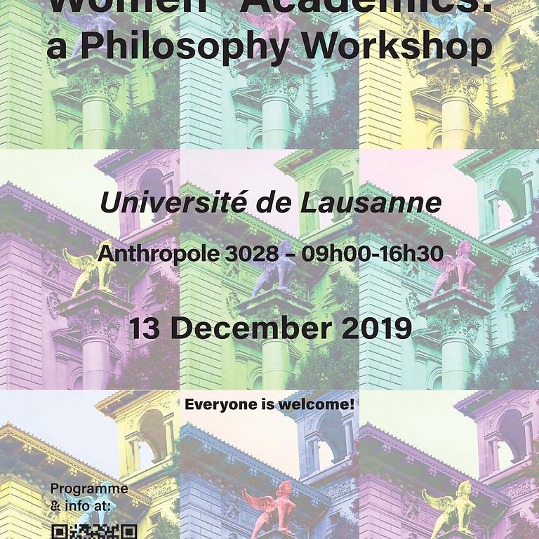 Women* Academics: a Philosophy Workshop