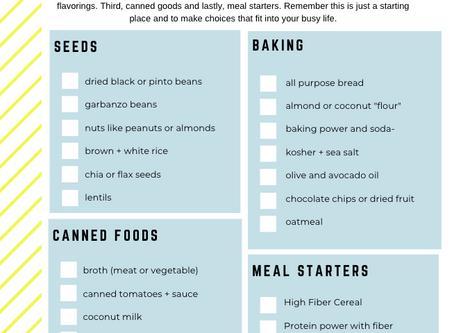 4 Steps to a Healthy Pantry + A Free Checklist