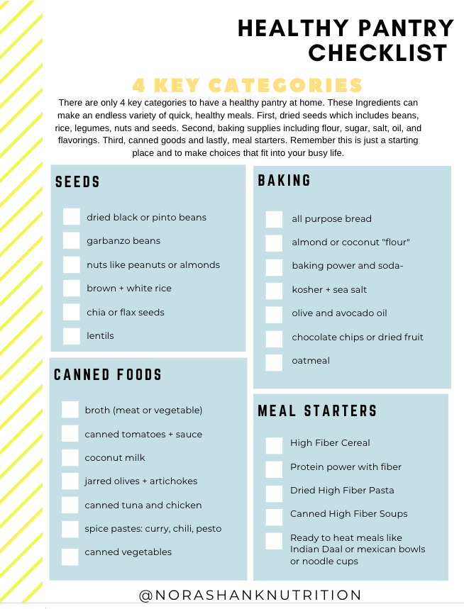 4 Key Categories you need in a healthy pantry