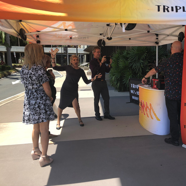 Outside Broadcast with Triple M!  It was hot!