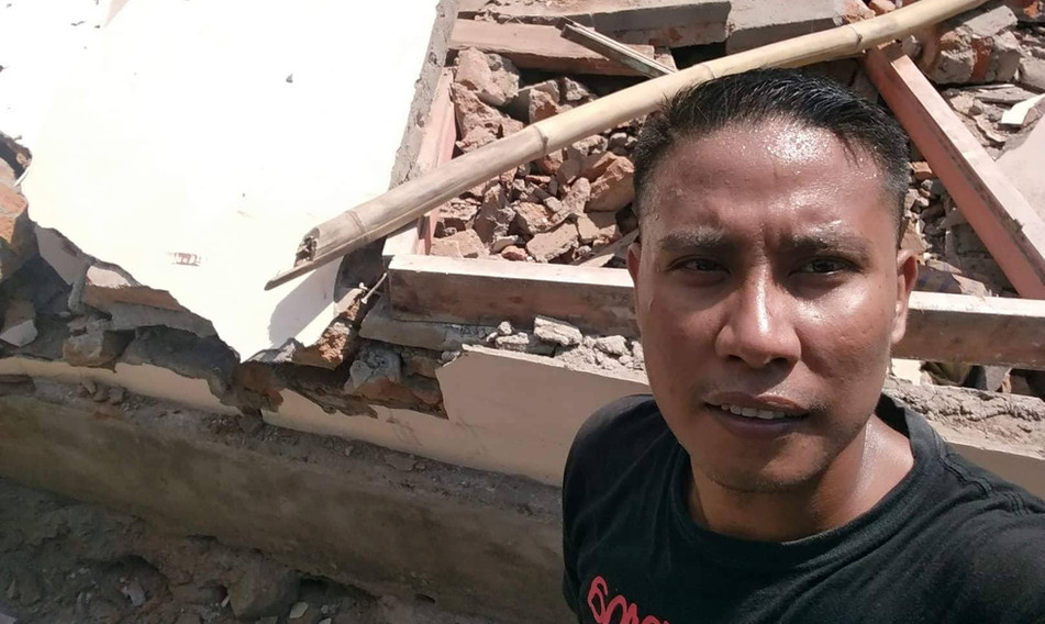 Devastation in Lombok