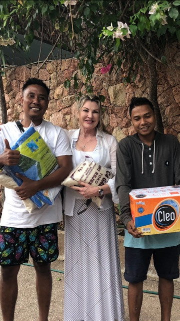 Taking lots of supplies home to their village.  Very happy indeed!  Thanks TUF Minds – Life Rescue and all who donated funds.  Yours in Positivity Dr Eli McIntosh