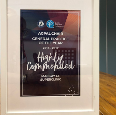2015-2017 AGPAL General Practice of the Year