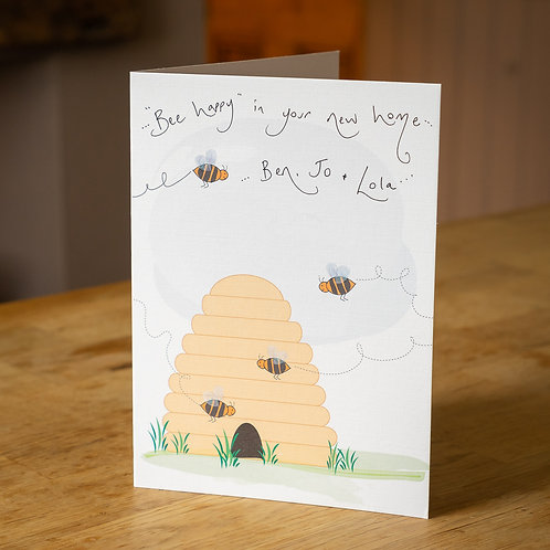 Beehive Design New Home Card