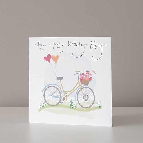 Bike with Balloons and Flowers Design