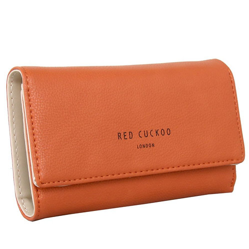 Orange Fold Over Purse