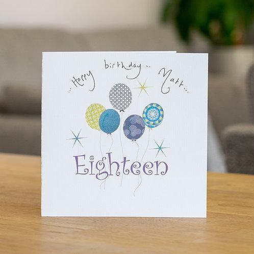 Birthday Balloons - Age Eighteen