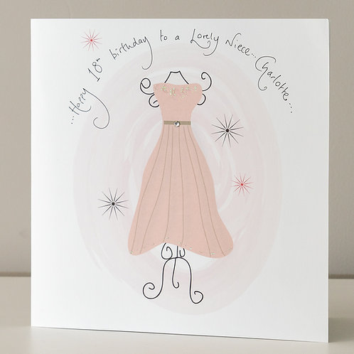 Party Dress Design - Large Card