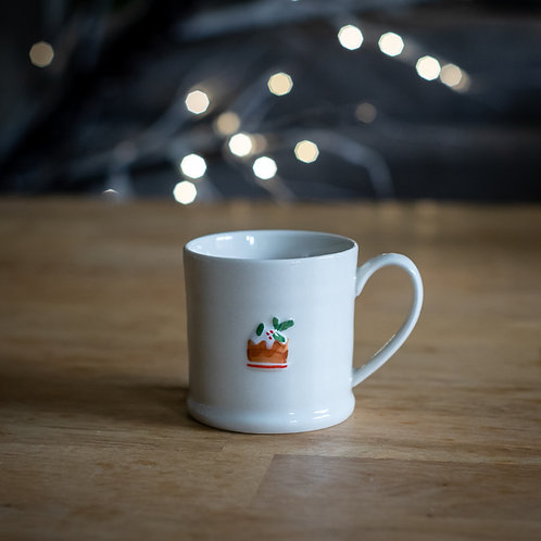 Ceramic Mini Mug - Christmas Pudding