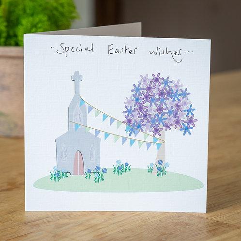 Church and Blossom Tree Design