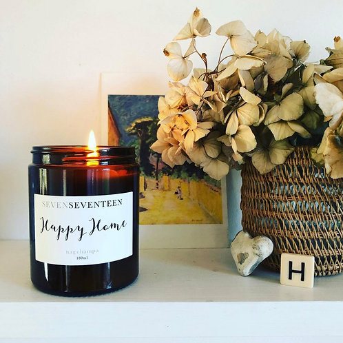 """Happy Home"" Nag Champa Soy Candle"