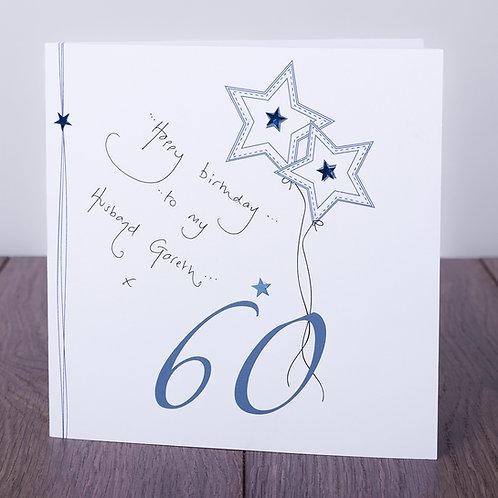 60th Birthday Blue Star