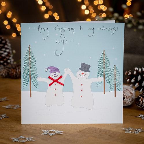 Snow Couple Design - Large Card