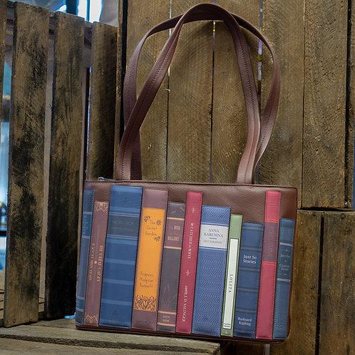 Leather Bookworm Library Shoulder Bag