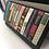 Thumbnail: Bookworm Flap Over Leather Purse - Black