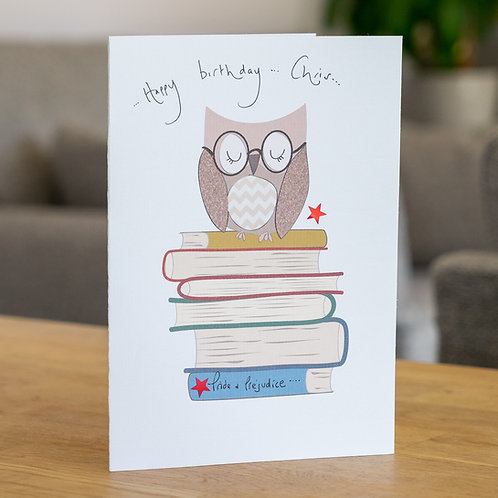 Owl on Books Design
