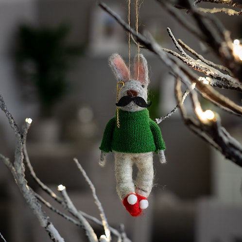 Mr Mouse Hanging Christmas Decoration