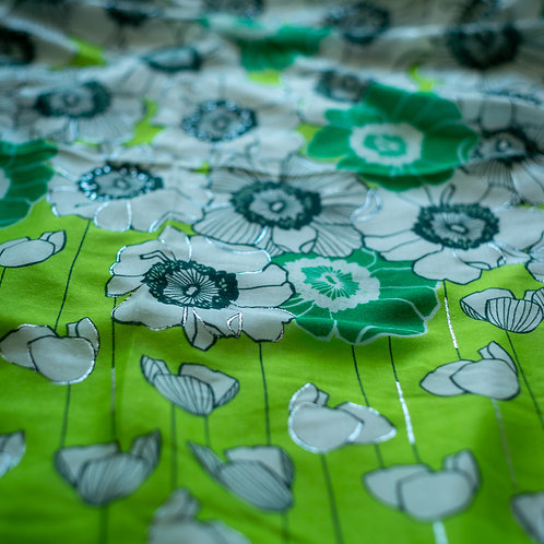 Silver Detail Scarf - Green