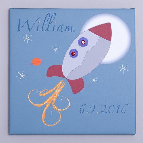 Rocket Personalised Canvas
