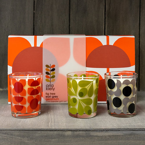 Orla Kiely Flower Mini Candle Gift Set