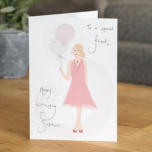 Pink Dress and Balloons Design