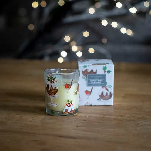 Christmas Pudding Scented Mini Candle