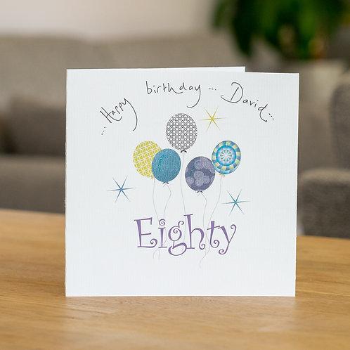 Birthday Balloons - Age Eighty