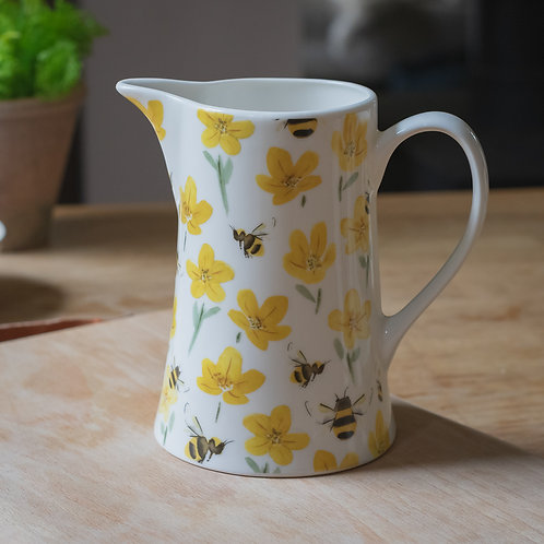 Bone China Jug  - Buttercup and Bee