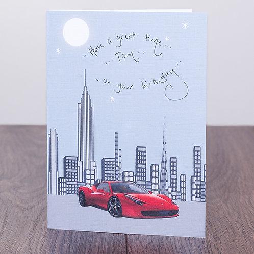 City Skyline and Ferrari
