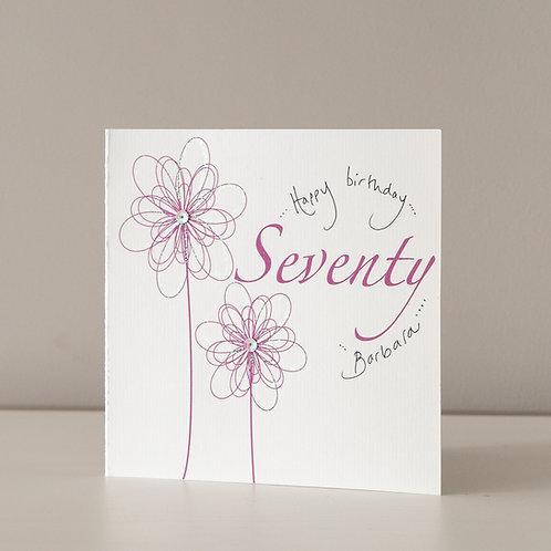 Swirly Magenta Flower - 70