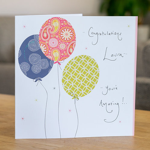 Balloons - large card